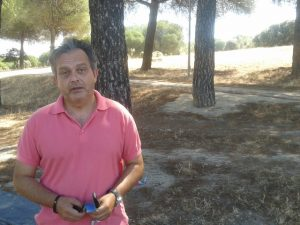Jesús Estrada, en el Monte del Pilar