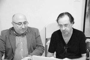 El arquitecto Rafael García Fuertes (Presidente del Centro de Estudios Astorganos Marcelo Macías) presentando a Utrera