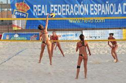 El equipo de Voley Playa de Majadahonda