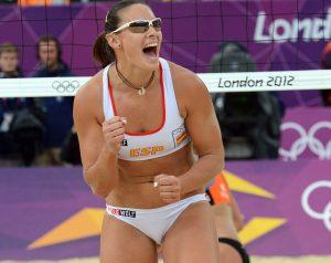 Liliana Fernandez from Spain celebrates