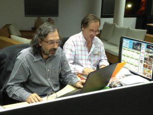 Federico Utrera (der) en Radio 3w, radio digital
