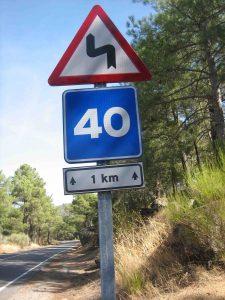 La nueva señalización tras el accidente