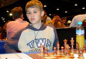 Magnus Carlsen, con 13 años