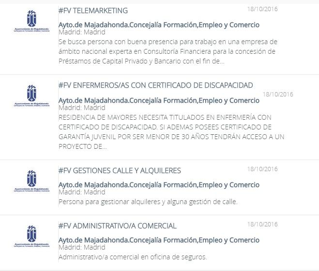 Oficina virtual de empleo madrid con las mejores for Oficina de empleo de majadahonda