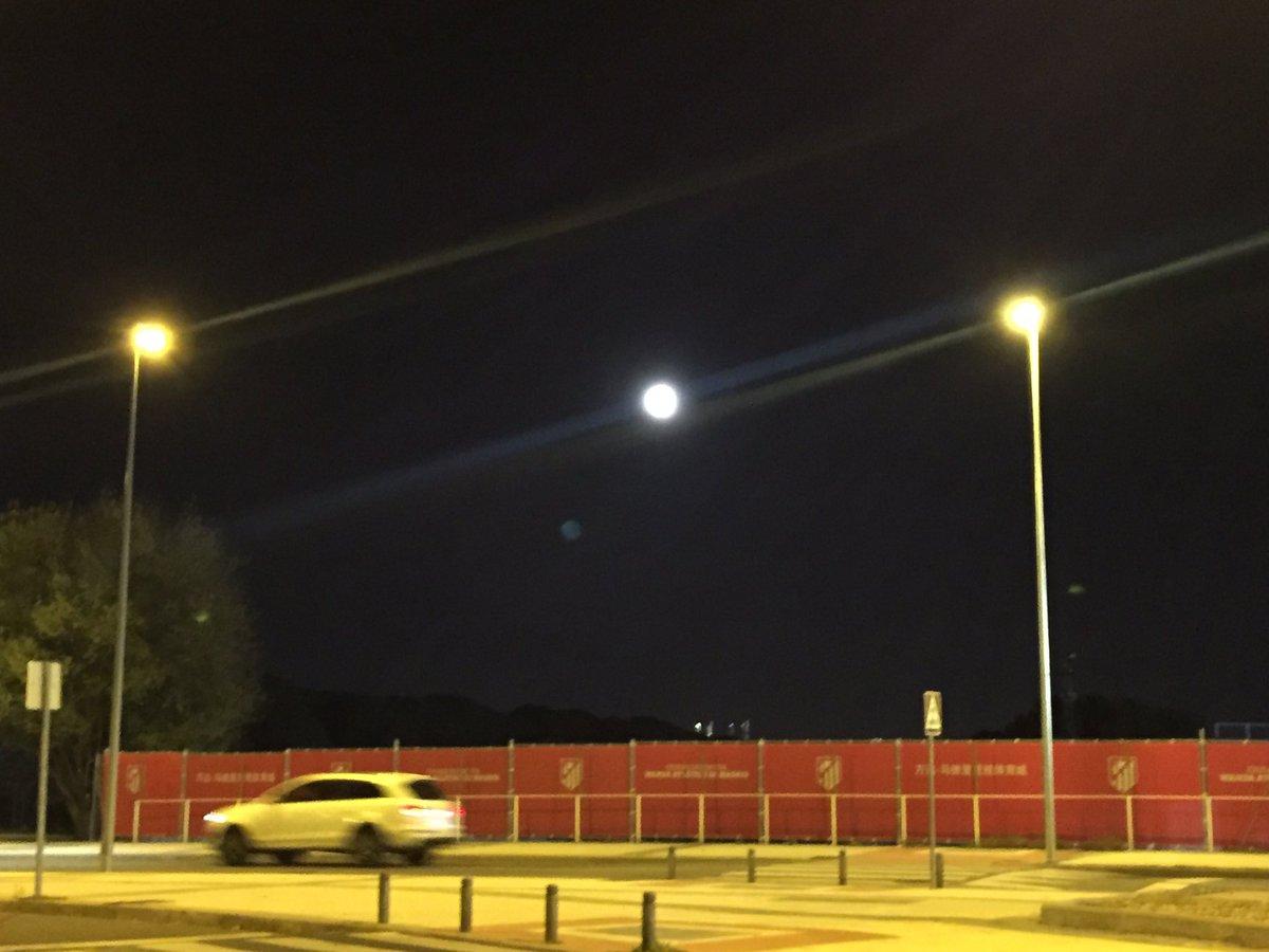 Fotografía de la Luna Llena realizada por Narciso de Foxá desde el Cerro del Espino