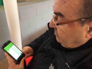 Enrique Vedia mirando la clasificación: 4º