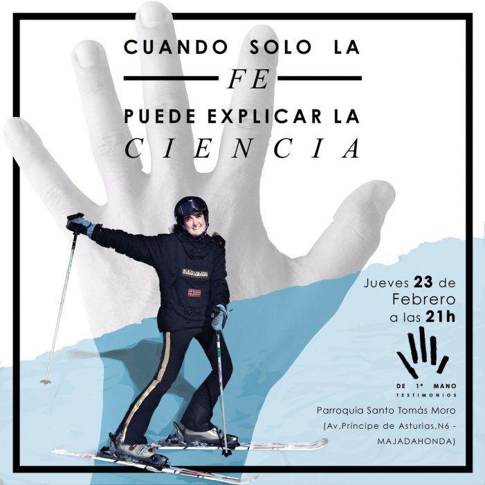 La esquiadora Paloma Casas explica en Santo Tomás Moro (Majadahonda) el conflicto entre ciencia y fe