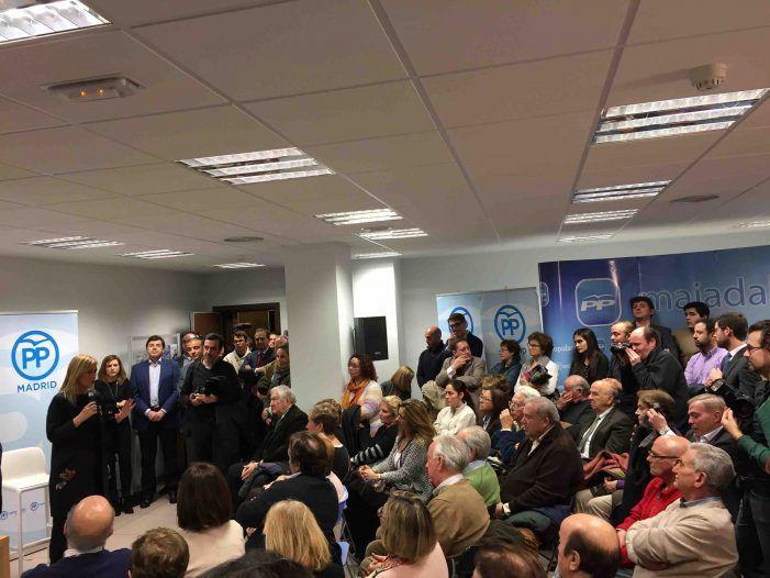 """Cristina Cifuentes en Majadahonda: """"¡de qué manera nos ha castigado la corrupción!"""""""