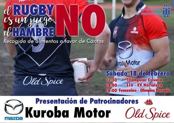 Rugby: CR Majadahonda recoge alimentos junto a Cáritas para las familias majariegas necesitadas