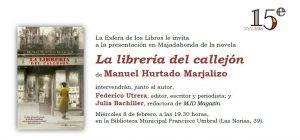 """Manuel Hurtado Marjalizo presenta en Majadahonda su best seller """"La librería del callejón"""""""