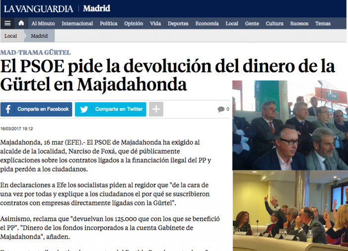 "El ""caso Over Marketing"" agita las críticas de Cs y PSOE en Majadahonda"