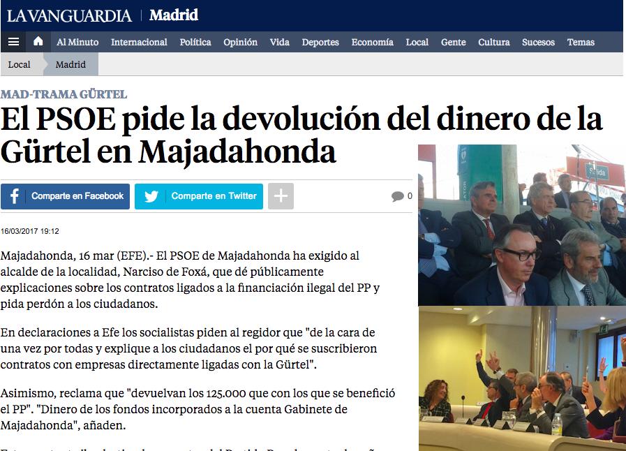"""El """"caso Over Marketing"""" agita las críticas de Cs y PSOE en Majadahonda"""