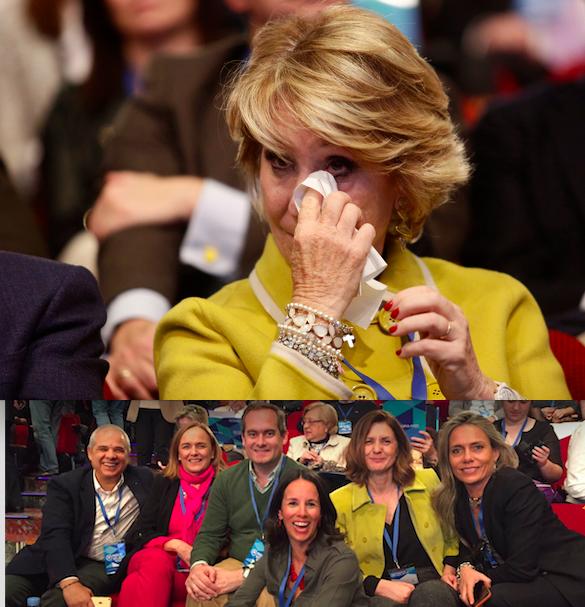 Sonrisas, aplausos y lágrimas en la despedida del PP de Majadahonda a Esperanza Aguirre