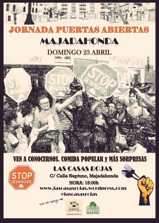 """Los """"okupas"""" de las Casas Rojas de Majadahonda invitan a almorzar en vísperas de su desalojo"""