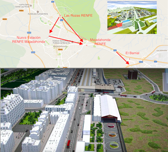 Fomento diseña otra estación de RENFE en el centro de Majadahonda y más accesos A-6/M-40