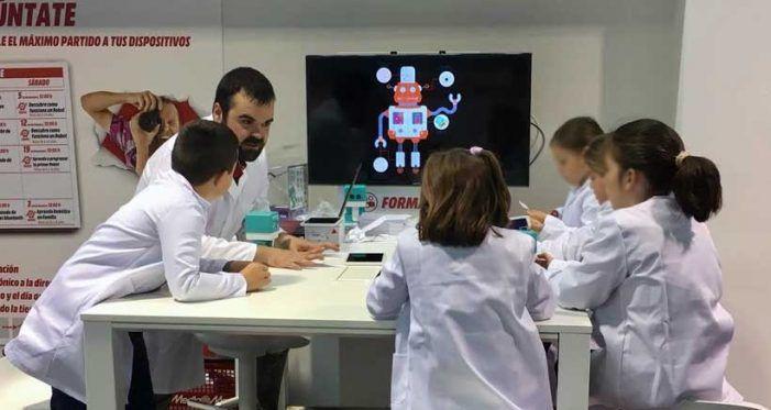 Exito de los talleres de robótica educativa para niños en Mediamarkt Majadahonda