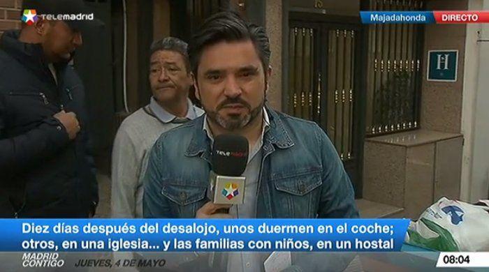 """Casas Rojas: Telemadrid informa y la Asociación de Vecinos de Majadahonda pide """"alimentos y mantas"""""""