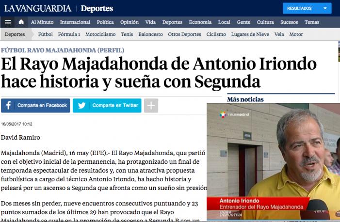 """La prensa deportiva española se vuelca con un """"espectacular"""" Rayo Majadahonda que juega """"sin presión"""""""