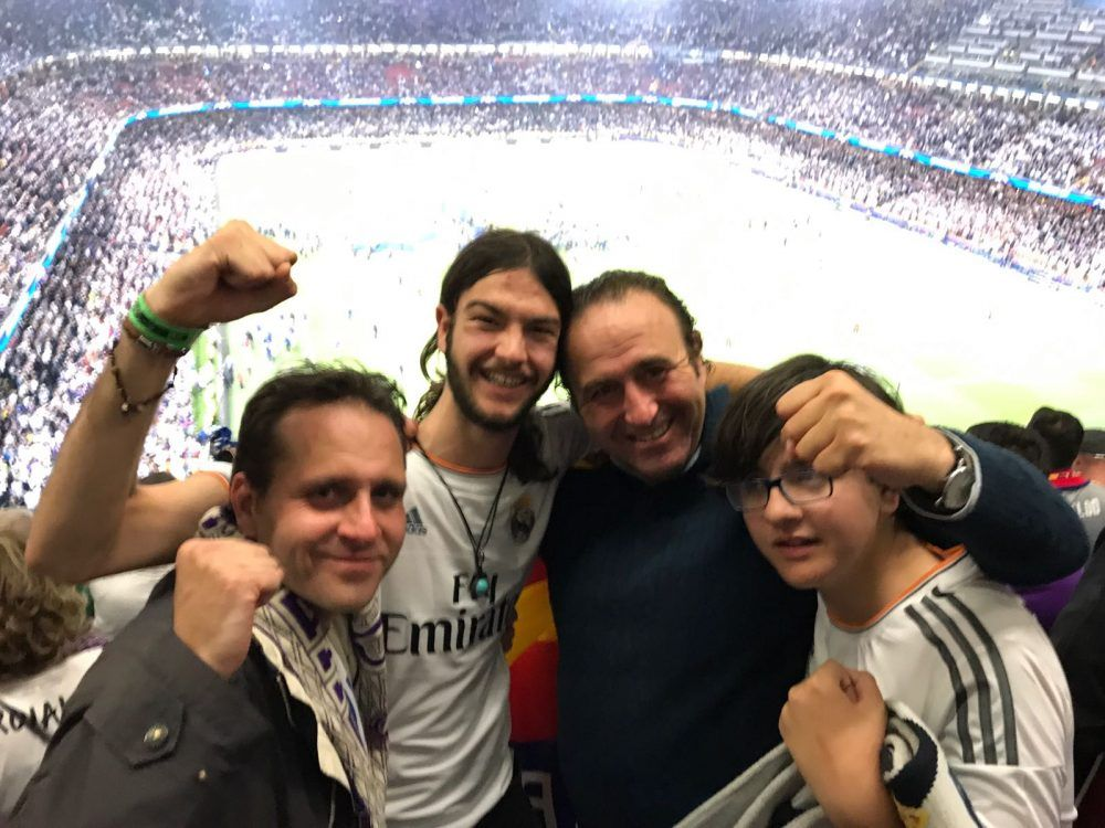 Una familia de Majadahonda, testigo en Cardiff de la 12ª Copa de Europa del Real Madrid