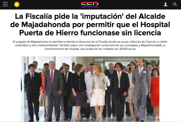 """El caso de las licencias y residuos del Hospital Puerta de Hierro Majadahonda """"es administrativo y no corrupción"""""""