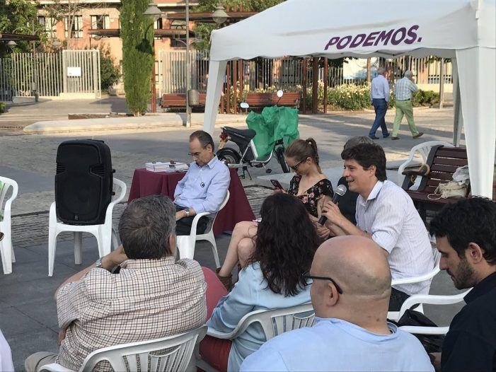La cúpula madrileña de Podemos acude a Majadahonda para explicar la censura contra Cifuentes