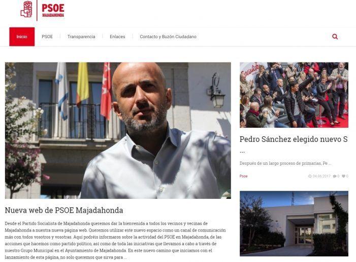 El PSOE de Majadahonda estrena su nueva página web