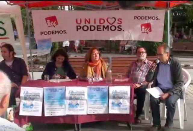 """Unidos Podemos """"ensaya"""" su candidatura en Majadahonda con un acto sobre el Canal de Isabel II"""