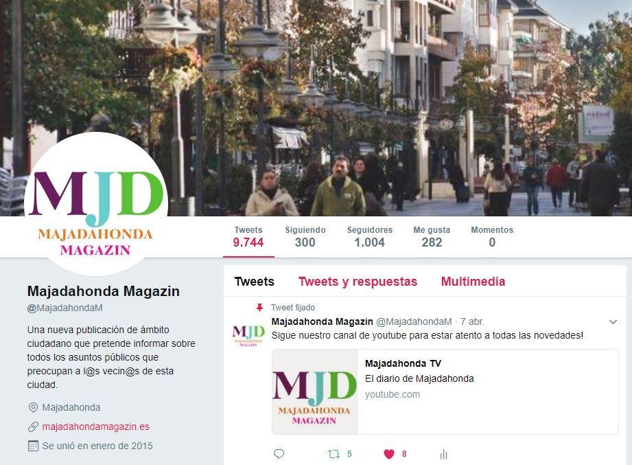 MJD Magazin alcanza los 1.000 seguidores en Twitter y crece en todas sus redes sociales