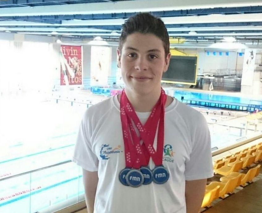Natación: Jesús Cesteros (Majadahonda Caude) se hace con 1 oro y 3 platas en el Campeonato de Verano de Madrid