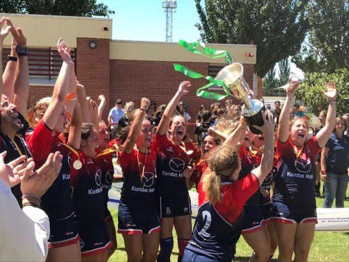 CR Majadahonda alza la Copa de la Reina y vuelve a ser campeona de España en rugby femenino