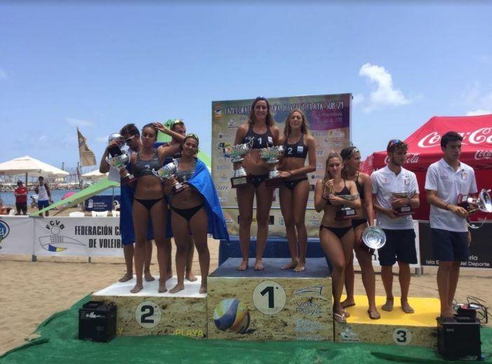 Voley playa: Tania Moreno y Belén Carro (CV Majadahonda) conquistan España tras vencer a Melilla