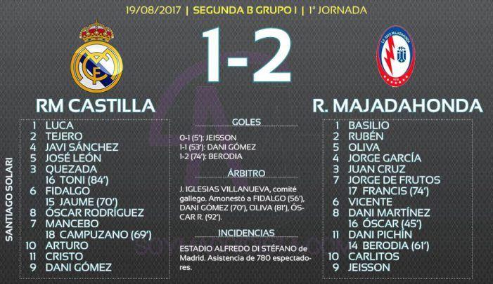 Rayo Majadahonda de Iriondo saca polvo de estrellas del Real Madrid-Castilla (1-2)