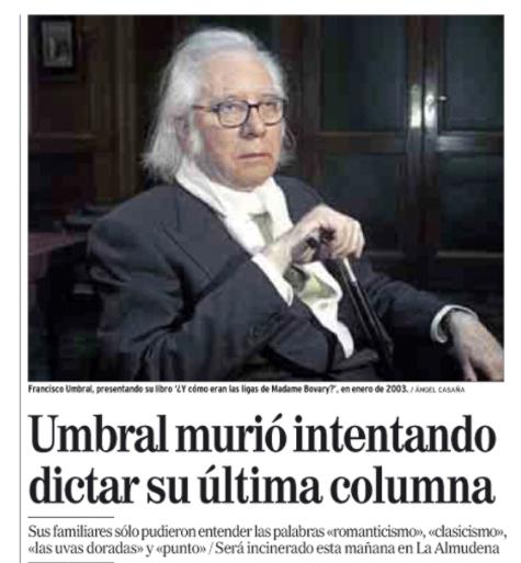 Majadahonda: el X Aniversario de Francisco Umbral revela su biografía secreta