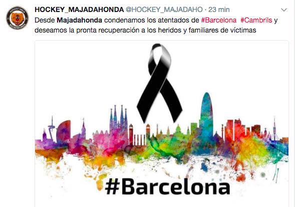Partidos, clubes y asociaciones de Majadahonda condenan la masacre de Barcelona