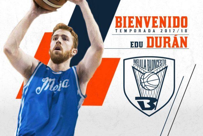 El majariego Edu Durán, nuevo fichaje estrella del Club Melilla Baloncesto
