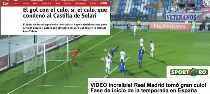 """El insólito gol """"con el culo"""" de Berodia al Real Madrid-Castilla da la vuelta al mundo"""