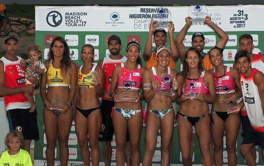 Voley Playa: Elsa Baquerizo campeona de España 2017 en Fuengirola, Olga Matveeva 3ª, Tania Moreno y Belén Carro 4ª