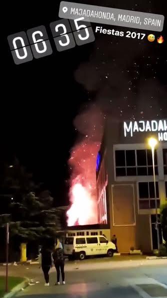 """Primeras imágenes de la """"batalla campal"""" para """"reventar"""" las Fiestas de Majadahonda 2017"""