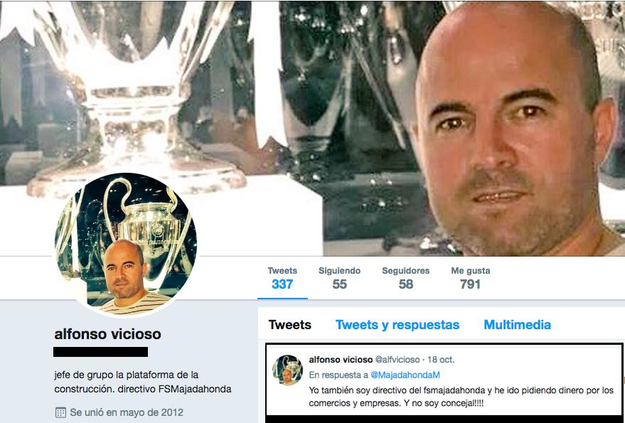 """El directivo Vicioso confirma entre insultos a la prensa que los concejales de Cs """"también"""" piden dinero"""