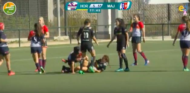 """Rugby femenino: CR Majadahonda se lleva el """"derby"""" ante Hortaleza y se alza como mejor ataque de la liga"""