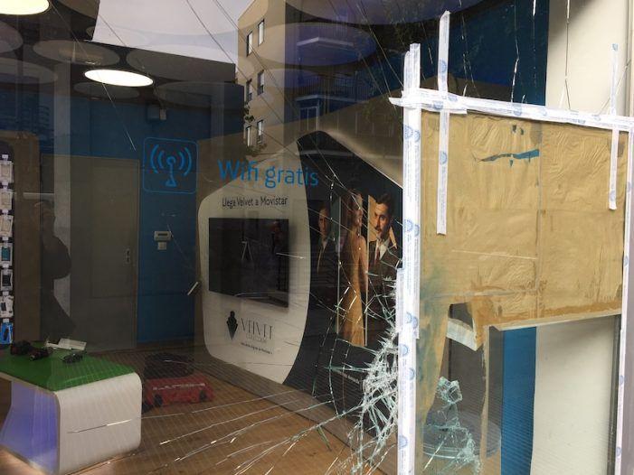 Un testigo llama a la policía e impide un robo violento en la tienda Movistar de Majadahonda