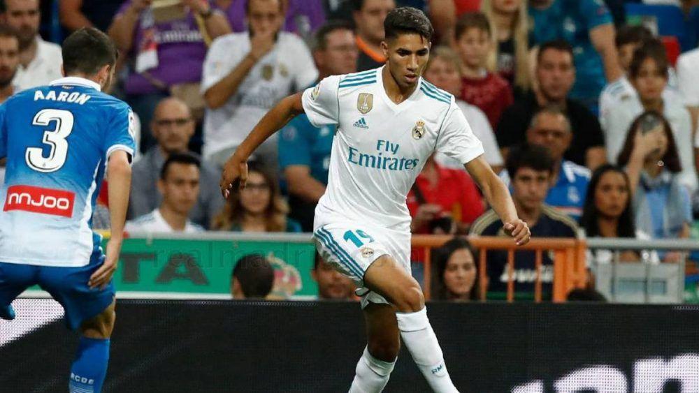 Achraf debuta con el Real Madrid como titular en partido oficial pero su padre no deja el mercadillo de Majadahonda