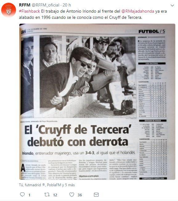 """La Federación Madrileña de Fútbol rinde homenaje al entrenador Antonio Iriondo: """"El Cruyff de Tercera"""""""