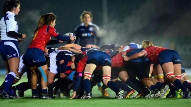 Rugby femenino: un espectacular España-Escocia en Majadahonda