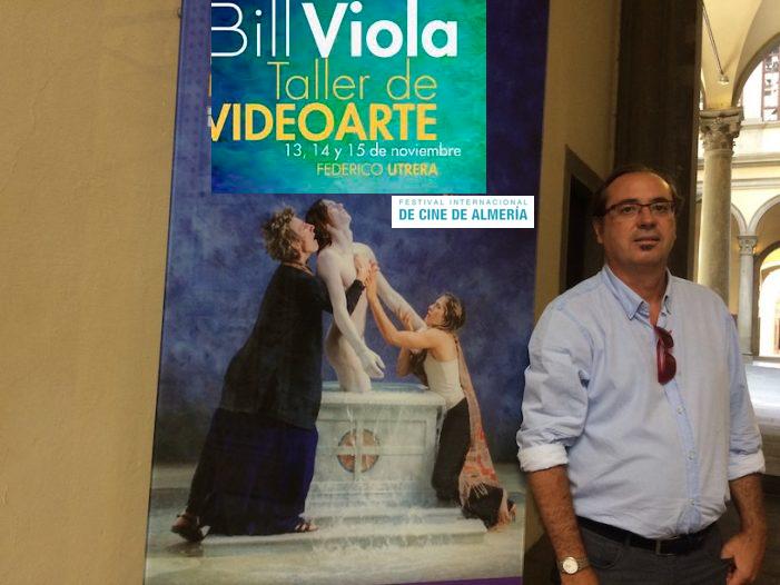 Programa del taller de Federico Utrera sobre Bill Viola en el Festival de Cine de Almería 2017