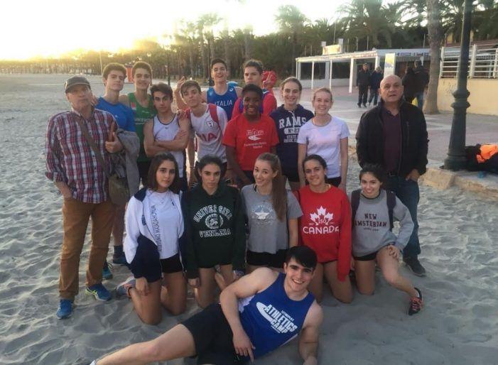 17 jóvenes atletas de Majadahonda se concentran en Murcia para preparar las competiciones de 2018