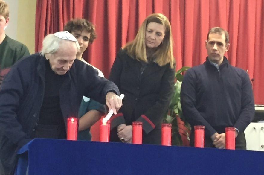 Instituto Margarita Salas (Majadahonda) revive el Holocausto con Noah Klieger superviviente en Auschwitz