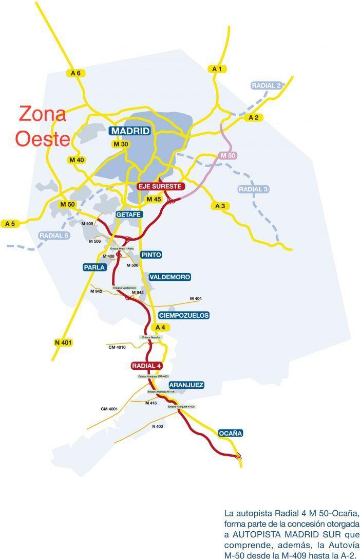 Quiebran las 5 autopistas del Sur y Este de Madrid por falta de uso mientras A-6 y A-1 siguen atascadas