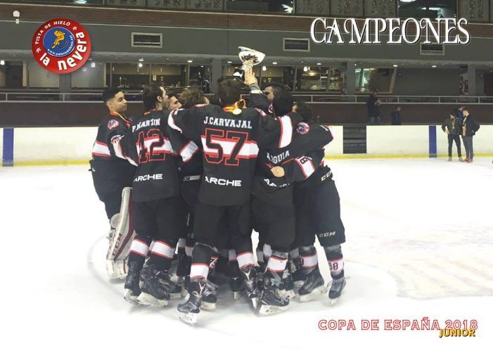 Hockey Hielo: La Nevera Majadahonda levanta la copa de España junior en Cataluña ante el FC Barcelona (3-9)