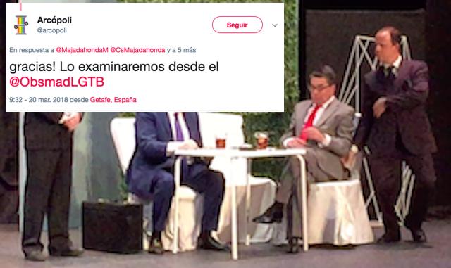 """Cs Majadahonda lleva al pleno un debate sobre la homofobia con un """"pacto de silencio"""" sobre su burla gay"""
